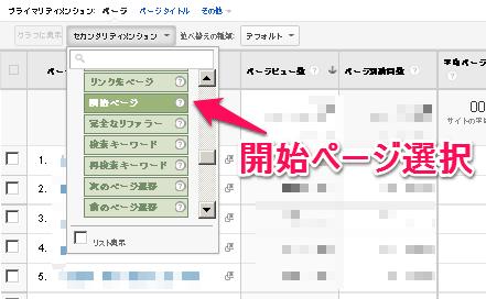 Google Analyticsで開始ページを調べる方法