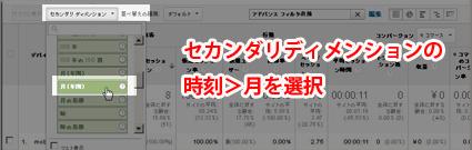Google Analyticsで、デバイス指標を月別に表示させる方法