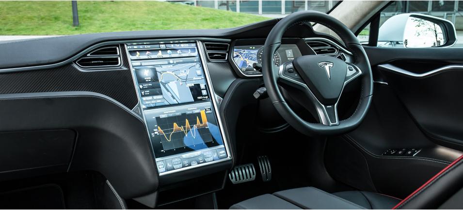テスラ・モデルS 内装,電気自動車